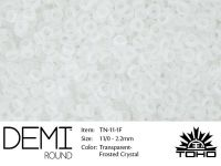 TOHO Demi Round 11o-1F Transparent-Frosted Crystal - 5 g