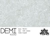 TOHO Demi Round 11o-1 Transparent Crystal - 5 g