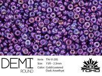 TOHO Demi Round 11o-205 Gold-Lustered Dark Amethyst - 5 g