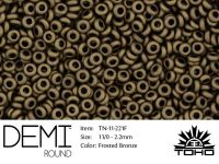 TOHO Demi Round 11o-221F Frosted Bronze - 5 g