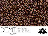 TOHO Demi Round 11o-224 Olympic Bronze - 5 g