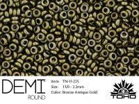 TOHO Demi Round 11o-225 Bronze Antique Gold - 5 g