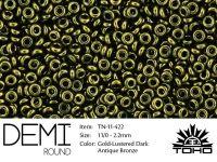 TOHO Demi Round 11o-422 Gold-Lustered Dark Antique Bronze - 5 g