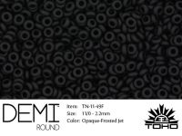 TOHO Demi Round 11o-49F Opaque-Frosted Jet - 5 g