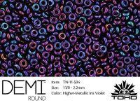 TOHO Demi Round 11o-504 Higher-Metallic Iris Violet - 5 g