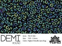 TOHO Demi Round 11o-506 Higher-Metallic June Bug - 5 g