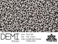 TOHO Demi Round 11o-566 Metallic-Silver-Frosted Antique Silver - 5 g
