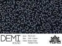 TOHO Demi Round 11o-611 Matte-Color Opaque Gray - 5 g
