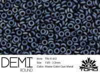 TOHO Demi Round 11o-612 Matte-Color Gun Metal - 5 g