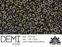 TOHO Demi Round 11o-614 Matte-Color Iris Brown - 5 g