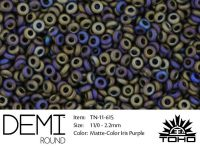 TOHO Demi Round 11o-615 Matte-Color Iris Purple - 5 g