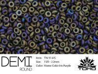TOHO Demi Round 11o-615 Matte-Color Iris Purple - 5 g