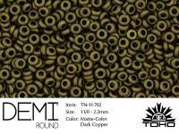 TOHO Demi Round 11o-702 Matte-Color Dark Copper - 5 g