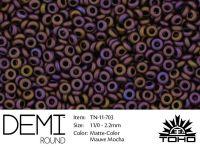 TOHO Demi Round 11o-703 Matte-Color Mauve Mocha - 5 g