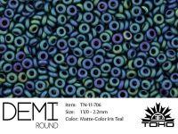 TOHO Demi Round 11o-706 Matte-Color Iris Teal - 5 g