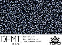 TOHO Demi Round 11o-81 Metallic Hematite - 5 g