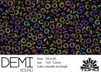 TOHO Demi Round 11o-85 Metallic Iris Purple - 5 g