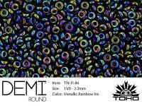 TOHO Demi Round 11o-86 Metallic Rainbow Iris - 5 g