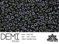 TOHO Demi Round 11o-89 Metallic Moss - 5 g