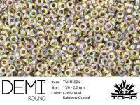TOHO Demi Round 11o-994 Gold-Lined Rainbow Crystal - 5 g