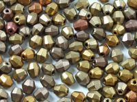 FP Bicone Matte Metallic Iris Lt. Gold 5 mm - 20 sztuk