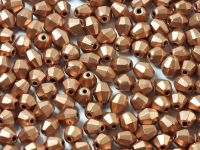 FP Bicone Matte Metallic Copper 5 mm - 20 sztuk