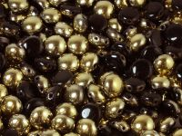 Candy 8mm Gold 1/2 Coated Jet - 10 sztuk
