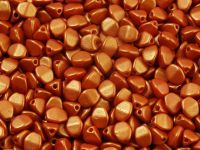 Pinch Beads Gold Shine Orange 5x3 mm - 5 g