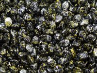 Pinch Beads Metallic Marble Yellow 5x3 mm - 50 g