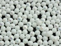 Round Beads Alabaster AB 6 mm - 20 sztuk