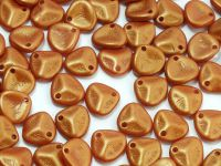 Rose Petals Gold Shine Brownish Red 8x7 mm - 10 sztuk
