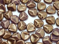 Rose Petals Gold Shine Saddle Brown 8x7 mm - 10 sztuk