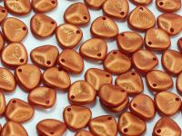 Rose Petals Gold Shine Brick Red 8x7 mm - 10 sztuk