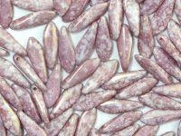 Dagger Beads Alabaster Purple Terracota 16x5mm - 10 sztuk