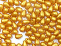 Puffy Teardrops Gold Shine Yellow Sun 6x4mm - 20 sztuk