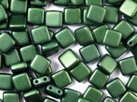 Tile 6mm Gold Shine Dark Green - 20 sztuk