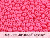 SuperDuo 2.5x5mm Opaque Coral Silk Mat - 10 g