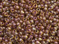TOHO Round 8o-1849 Inside-Color Rainbow Topaz - Lavender Lined - 10 g