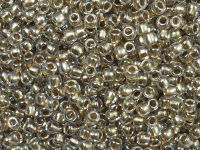 TOHO Round 8o-989 Gold-Lined Crystal - 10 g