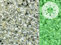 TOHO Round 8o-PF2700S Glow In The Dark - Permanent Finish Silver-Lined Crystal - Green Splash - 10 g