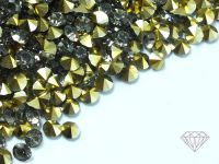 Diamenciki akrylowe szaro-złote 3x2mm - 6 g