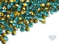 Diamenciki akrylowe morsko-złote 3x2mm - 6 g