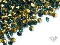 Diamenciki akrylowe szmaragdowo-złote 3x2mm - 6 g