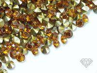 Diamenciki akrylowe bursztynowo-złote 3x2mm - 6 g