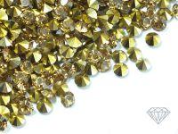 Diamenciki akrylowe szampańsko-złote 3x2mm - 6 g