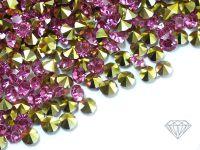 Diamenciki akrylowe różowo-złote 3x2mm - 6 g