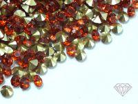 Diamenciki akrylowe pomarańczowo-jasnozłote 3x2mm - 6 g