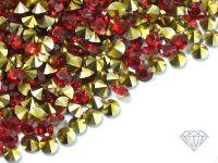 Diamenciki akrylowe czerwono-złote 3x2mm - 6 g