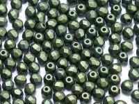 FP 3mm Gold Shine Dark Olive Green - 40 sztuk