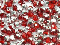 FP 4mm Silver 1/2 Coated Siam Ruby - 40 sztuk